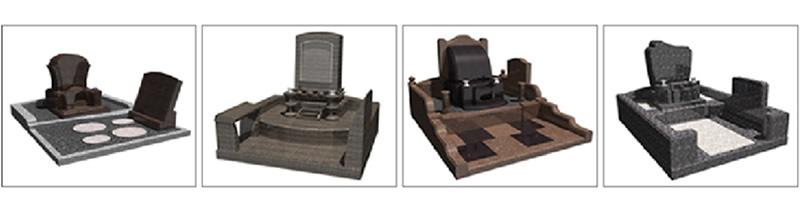 CADによる墓石のオリジナルデザイン