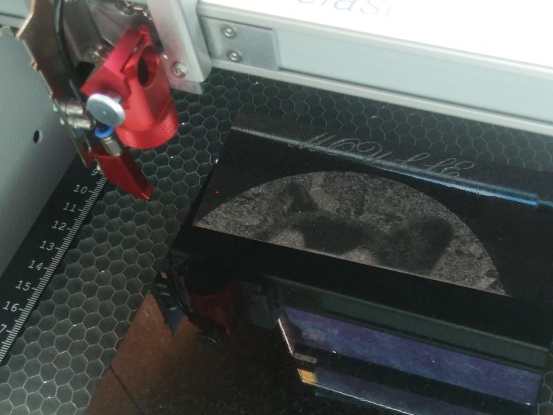 石板レーザー彫刻加工施工例1